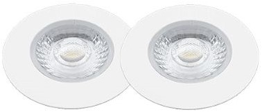 Interlight LED Inbouwspot Cabiled IP44 Basisset 2x 4W 2700K CRI>90 36D 260lm Wit Ø65 Buitenmaat - Gatmaat Ø58 - Dimbaar