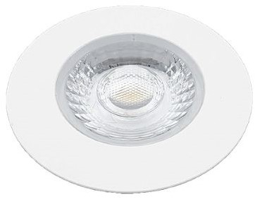 Interlight LED Inbouwspot Cabiled IP44 4W 2700K CRI>90 36D 260lm Wit Ø65 Buitenmaat - Gatmaat Ø58 - Dimbaar
