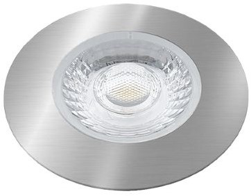 Interlight LED Inbouwspot Cabiled IP44 4W 2700K CRI>90 36D 260lm Geborsteld Chroom Ø65 Buitenmaat - Gatmaat Ø58 - Dimbaar