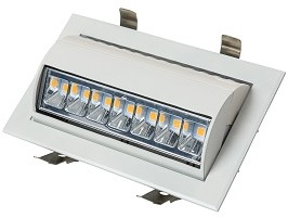 Interlight LED Wallwasher 43W 4000K 90x60D 4200lm Wit Ø230x140 F - G Ø220x125
