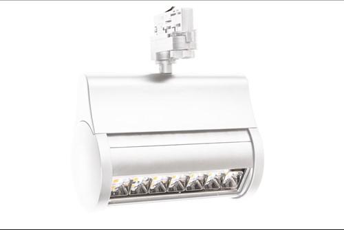 Interlight LED 3-Fase Wallwasher 43W 3000K CRI>80 90x60D 3900lm Wit