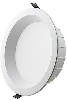 Interlight LED Downlight EasyFit IP44 15W 4000K CRI>90 1500lm Ø180 Buitenmaat - Gatmaat Ø150 - Dimbaar (2x18W)