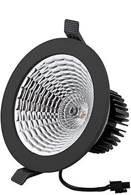 Interlight LED Downlight Camita 16W 60° 3000K zwart - dimbaar