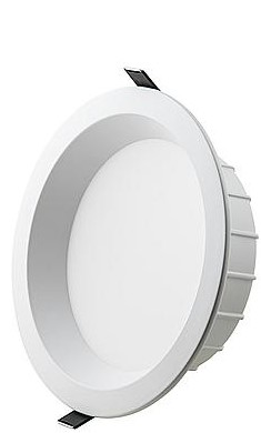 Interlight LED Downlight EasyFit IP44 15W 3000K CRI>90 1500lm Ø180 Buitenmaat - Gatmaat Ø150 - Dimbaar (2x18W)