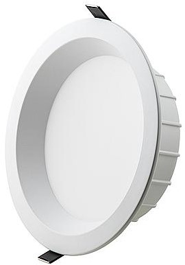 Interlight LED Downlight EasyFit IP44 20W 3000K CRI>90 2000lm Ø245 Buitenmaat - Gatmaat Ø200 - Dimbaar (2x26W)