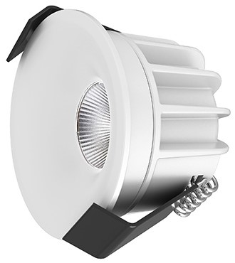 Interlight LED Inbouwspot Camicro IP44 Rond 4W 3000K CRI>95 45D 235lm Wit Ø50 Buitenmaat - Gatmaat Ø44 - Dimbaar