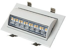 Interlight LED Wallwasher 43W 3000K 90x60D 3900lm Wit Ø230x140 F - G Ø220x125