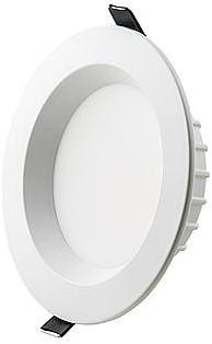 Interlight LED Downlight EasyFit IP44 11W 3000K CRI>90 1000lm Ø140 Buitenmaat - Gatmaat Ø110 - Dimbaar (1x18W)