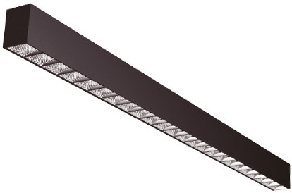 Interlight LED Pendelarmatuur Orion Linear Up/Down 29W 3000K 85D 3144lm Zwart UGR<19