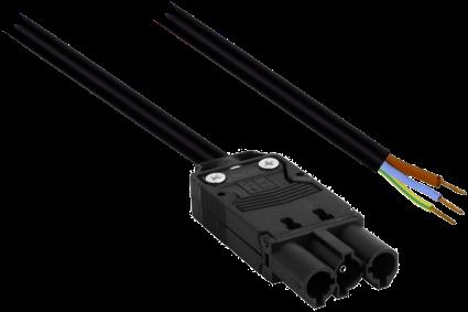 GST18 Aansluitsnoer 0,5M 3x1,5mm2 Male tbv Driverzijde (Gestript)