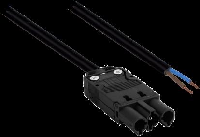 GST18 Aansluitsnoer 0,5M 2x1,0mm2 Male tbv Driverzijde (Gestript)