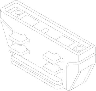 3-Fase Rail Mechanische Koppelstuk (Stroomonderbreking) Zwart