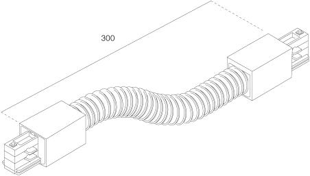 3-Fase Rail Flexibele Koppelstuk Lang Wit