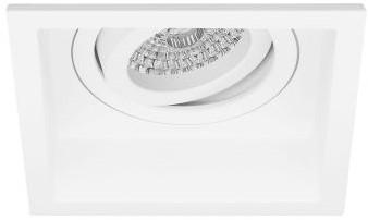 Pragmalux Inbouwspot Dome Vierkant Verdiept Kantelbaar Wit - Incl. GU10 Fitting