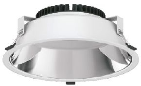 Interlight LED Downlight Creator Pro X 40W 3000K-5700K 3-CCT 4100lm Ø273 Buitenmaat - Gatmaat Ø245 - 1-10V Dimbaar (2x42W)