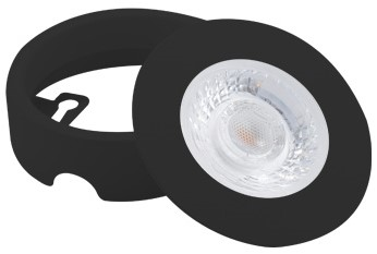 Interlight LED Inbouwspot Cabiled Opbouwring Zwart