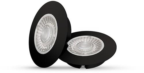 Interlight LED Inbouwspot Cabiled IP44 Basisset 2x 4W 2700K CRI>90 36D 260lm Zwart Ø65 F - G Ø58 - Dimbaar