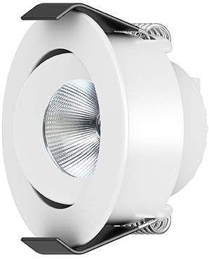 Interlight LED Inbouwspot Camicro IP44 Rond Kantelbaar 4W CTA 2200-2700K CRI>95 45D 220lm Wit Ø50 Buitenmaat - Gatmaat Ø44 - Dimbaar