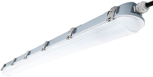 Pragmalux LED TL Waterdicht Armatuur Zeus IP66 120cm 35W 4000K 4800lm 5x2,5mm Doorvoerbedrading (2x36W)