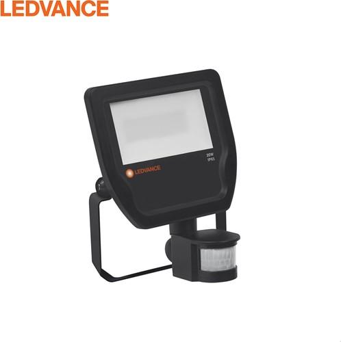 Ledvance LED Breedstraler IP65 20W 2200lm 4000K zwart + Bewegingssensor - Symmetrisch - Vervangt 50W