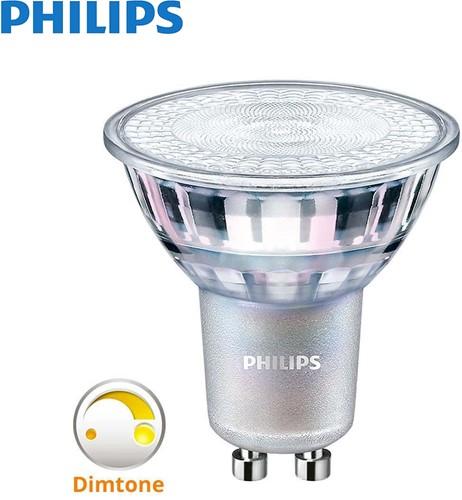 Philips LEDspot MV Value GU10 4.9W 927 36D MASTER - Dimtone dimbaar - Extra Warmwit - Beste Kleurweergave - Vervangt 50W