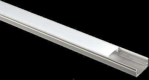 Pragmalux Aluminium Opbouwprofiel 2m Rand 8mm Max. 14,4W/m