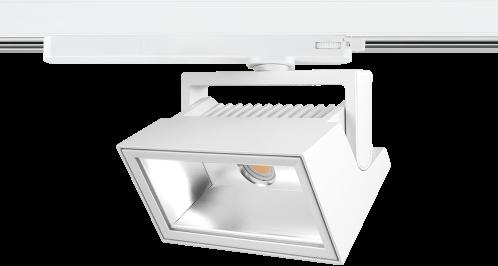 Pragmalux LED 3-Fase Railspot Alto Flood 38W 4000K CRI>90 PW 72Dx98D 4587lm Zwart