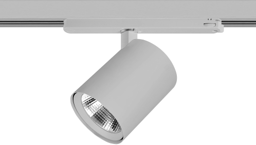 Pragmalux LED 3-Fase Railspot Alto 36W 3000K CRI>90 36D 4866lm Grijs