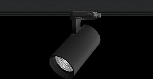 Pragmalux LED 3-Fase Railspot Piccolo 7W 2700K CRI>90 33D 674lm Zwart - Fase Dimbaar