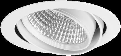 Pragmalux LED Inbouwspot Cardano 24W 3000K CRI>90 42° 3078lm Ø190 Buitenmaat - Gatmaat Ø175 Wit