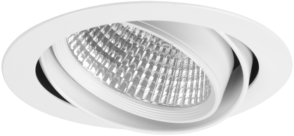 Pragmalux LED Inbouwspot Cardano 41,6W 3000K CRI>90 42° 5308lm Ø190 Buitenmaat - Gatmaat Ø175 Wit