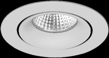 Pragmalux LED Inbouwspot Fasio IP44 Rond 13W 3000K CRI>90 38D 740lm Grijs Ø95 Buitenmaat - Gatmaat Ø83 - Dimbaar