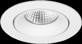 Pragmalux LED Inbouwspot Fasio IP44 Rond 13W 2700K CRI>90 38D 700lm Wit Ø95 Buitenmaat - Gatmaat Ø83 - Dimbaar