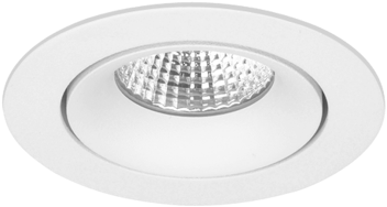 Pragmalux LED Inbouwspot Fasio IP44 Rond 13W 3000K CRI>90 38D 740lm Wit Ø95 Buitenmaat - Gatmaat Ø83 - Dimbaar