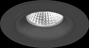 Pragmalux LED Inbouwspot Fasio IP44 Rond 13W 3000K CRI>90 38D 740lm Zwart Ø95 Buitenmaat - Gatmaat Ø83 - Dimbaar