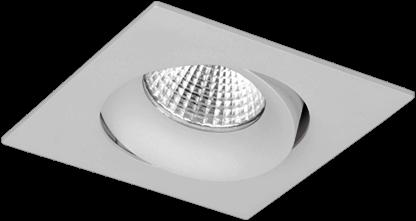 Pragmalux LED Inbouwspot Fasio IP44 Vierkant 13W 3000K CRI>90 38D 740lm Grijs Ø95x95 Buitenmaat - Gatmaat Ø83 - Dimbaar