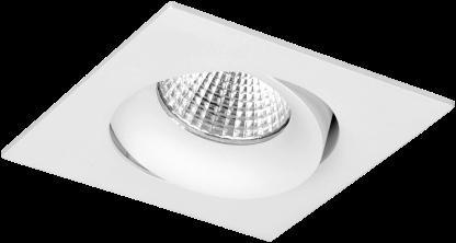 Pragmalux LED Inbouwspot Fasio IP44 Vierkant 13W 2700K CRI>90 38D 700lm Wit Ø95x95 Buitenmaat - Gatmaat Ø83 - Dimbaar