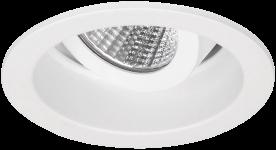 Pragmalux LED Inbouwspot Pico IP44 Kantelbaar 12W 2700K CRI>90 24D 650lm Wit Ø82 Buitenmaat - Gatmaat Ø75 - Dimbaar