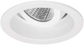 Pragmalux LED Inbouwspot Pico IP44 Kantelbaar 12W 4000K CRI>90 24D 800lm Wit Ø82 Buitenmaat - Gatmaat Ø75 - Dimbaar