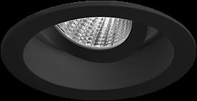 Pragmalux LED Inbouwspot Pico IP44 Kantelbaar 12W 3000K CRI>90 24D 700lm Zwart Ø82 Buitenmaat - Gatmaat Ø75 - Dimbaar