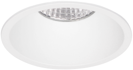 Pragmalux LED Inbouwspot Pico IP44 Vast 12W 2700K CRI>90 38D 650lm Wit Ø82 Buitenmaat - Gatmaat Ø75 - Dimbaar