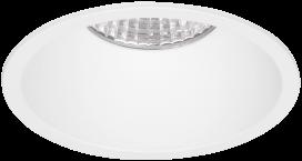 Pragmalux LED Inbouwspot Pico IP44 Vast 12W 3000K CRI>90 38D 700lm Wit Ø82 Buitenmaat - Gatmaat Ø75 - Dimbaar
