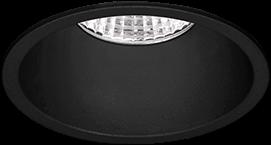 Pragmalux LED Inbouwspot Pico IP44 Vast 12W 3000K CRI>90 38D 700lm Zwart Ø82 Buitenmaat - Gatmaat Ø75 - Dimbaar