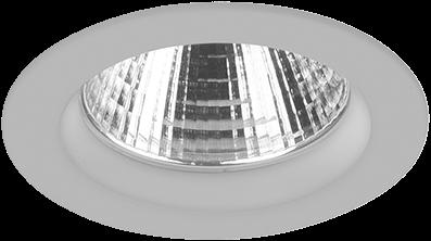 Pragmalux LED Inbouwspot Ponto Rond 32W 3000K CRI>90 36° 4350lm Ø108 Buitenmaat - Gatmaat Ø97 Grijs