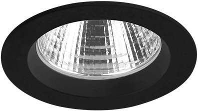 Pragmalux LED Inbouwspot Ponto Rond 32W 3000K CRI>90 36° 4350lm Ø108 Buitenmaat - Gatmaat Ø97 Zwart
