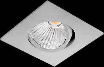 Pragmalux LED Inbouwspot Ponto Vierkant 1V 24W 3000K CRI>90 36° 3100lm Ø130x130 Buitenmaat - Gatmaat Ø117 Grijs