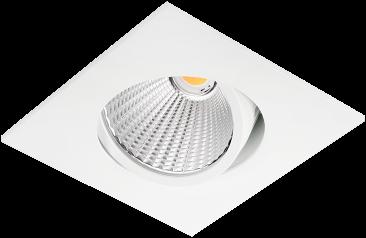 Pragmalux LED Inbouwspot Ponto Vierkant 1V 24W 3000K CRI>90 36° 3100lm Ø130x130 Buitenmaat - Gatmaat Ø117 Wit