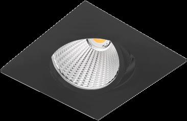 Pragmalux LED Inbouwspot Ponto Vierkant 1V 24W 3000K CRI>90 36° 3100lm Ø130x130 Buitenmaat - Gatmaat Ø117 Zwart