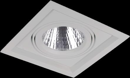 Pragmalux LED Inbouwspot Squadro 1V Grijs Ø215x215 Buitenmaat - Gatmaat Ø205x195