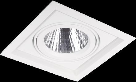 Pragmalux LED Inbouwspot Squadro 1V Wit Ø215x215 Buitenmaat - Gatmaat Ø205x195